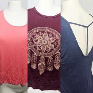 3 pack bundle of casual tops Dream catcher soft